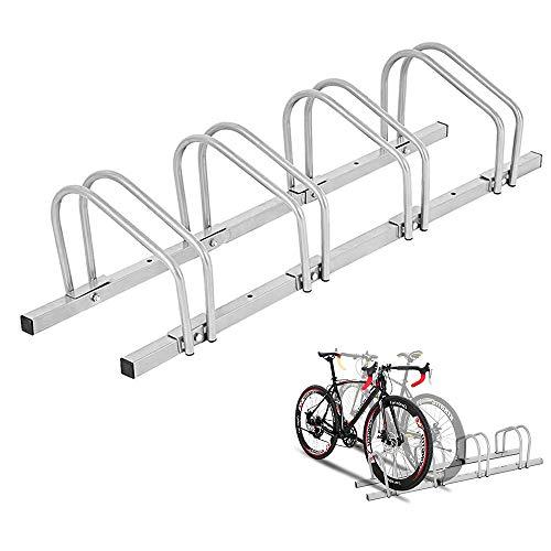 LLY Houseware 4 Bicycle Floor Parking Adjustable Storage Stand Bike Rack Parking Garage