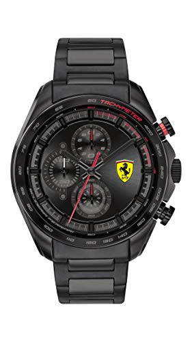 Scuderia Ferrari Reloj Analógico para Hombre de Cuarzo con Correa en Acero Inoxidable 0830654