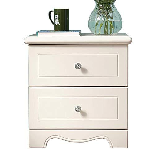 JCNFA STOLIK Biały, Meble dla dzieci/Stoły nocne, Szafka do przechowywania łóżka księżniczki, przechowywanie szuflad, stabilne stóp szafki (Color : White, Size : 18.89 * 15.74 * 19.29in)