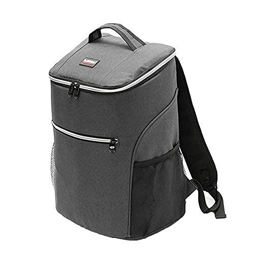 Anjing 20l grande refrigerador mochila almuerzo picnic caja aislada Cool Bag Ice Gray