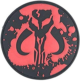 Mandalorian Mythosaur Tactical PVC Morale Patch - Perfect Hook Backed Funny Patches to Be Added to Uniforms, Jackets, Backpacks - by Patch Panel
