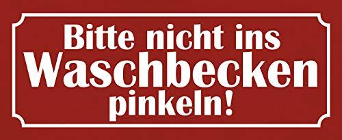 FS Gelieve niet in de wastafel roze blikken bord gewelfd Metal Sign 10 x 27 cm