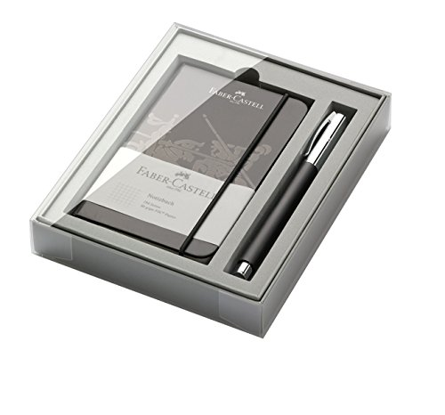 Faber-Castell 149624 Edelharz Promo-Set Ambition mit Tintenroller, schwarz