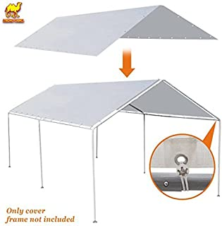 Strong Camel New 10'x20' Canopy for Tent Garage Tarp Top Shelter Cover w Ball Bungees (Only Cover, Frame is not Included)