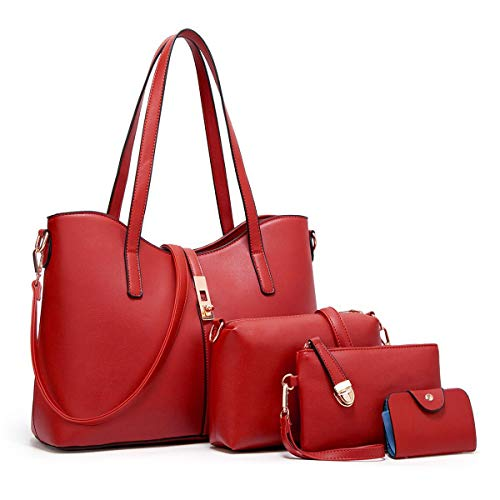 Women Fashion Synthetic Leather Handbags+Shoulder...