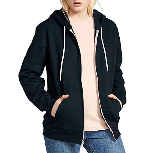 American Apparel F497 Flex Fleece Zip Hoody Black