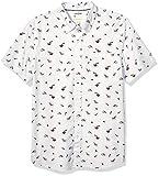 Amazon Brand - Goodthreads Men's Standard-Fit Short-Sleeve Printed Poplin Shirt, Dumplings and Noodles X-Large