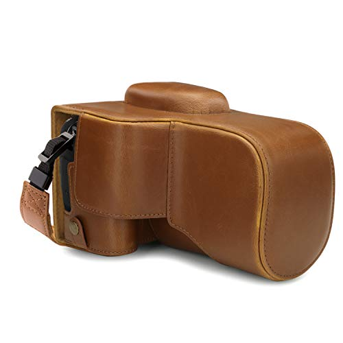 MegaGear Ever Ready MG1745 - Funda de Piel para cámara Canon EOS 4000D, Color marrón Claro