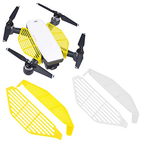 CamKix Finger Guards Compatible with DJI Spark - 2 Pair Set (2X Yellow and 2X White) - Hand Catch Safety Shields - Protects Hands/Fingers from Propeller Impacts - Essential DJI Spark Drone Accessory