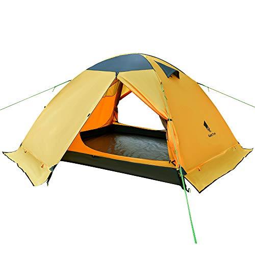 GEERTOP Kuppelzelt Campingzelt Trekkingzelt Familienzelt Wasserdichtes - DREI Person 4 Jahreszeiten Ideal für Camping Wandern Reisen