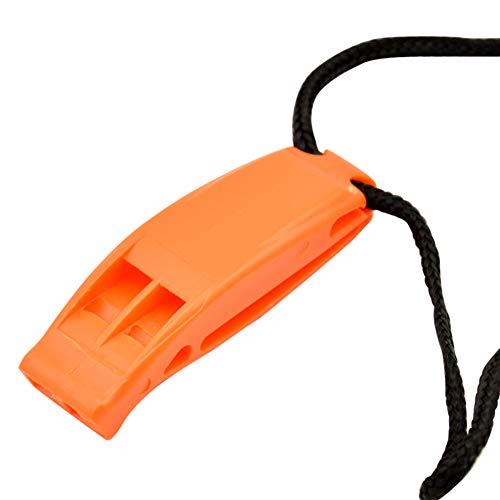 Tookss silbatos de seguridad de emergencia kayak buceo rescate deportes acuáticos supervivencia al aire libre camping canotaje natación silbato naranja
