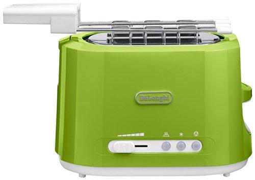 DeLonghi 176125504 Tostadora, 550 W, 1 L, 50 Hz, 230 V, 2 rebanadas, verde