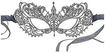 Luxury Mask Women s Stunning All Silver Lace Masquerade Mask Ana