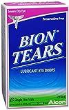 Bion Tears Lubricant Eye Drops Single Use Vials 28 Each (Pack of 4)