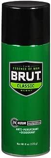 Brut Antiperspirant & Deodorant Spray, Classic 6 oz(pack of 2)