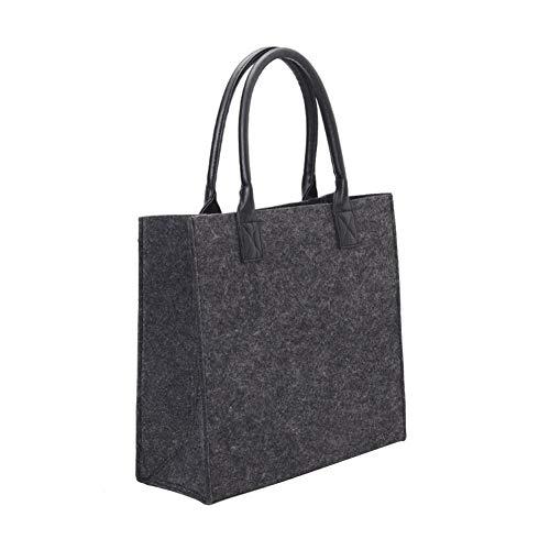 Funihut Vilten tas met handvat, tas voor open haard, hout, open haard, opvouwbaar, organizer voor kleding (42 x 42 x 15 cm)