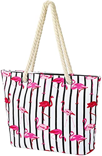 DOPN Gran bolsa de playa con cremallera, gran bolsa de playa con cremallera, bolsa de playa con cremallera, bolsa de playa para hombre y mujer