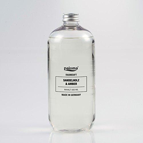 Raumduft Nachfüllflasche 500ml pajoma Duftöl für Diffuser Duft wählbar … (Sandelholz und Amber)