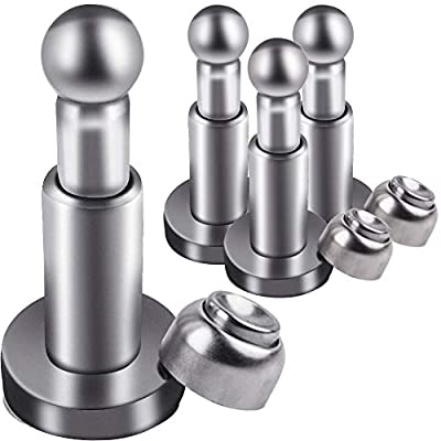 WXJ13 4 Pack Stainless Steel Soft-Catch Magnetic Doorstops Wall Mount Door Stopper for Home and Office
