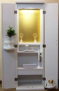仏壇創価学会SGI スマート ホワイト LED照明 仏具一式付き