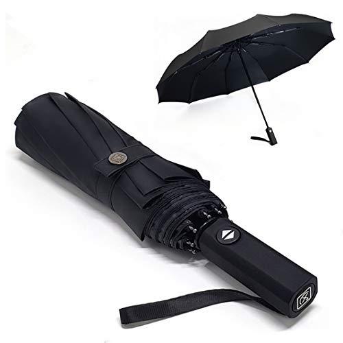 折りたたみ傘 メンズ 日傘 ワンタッチ 自動開閉 晴雨兼用 おりたたみ傘 メンズ 大きい 大きめ 超撥水 梅雨対策 台風対応 頑丈な10本骨 UVカット 紫外線遮蔽 折り畳み傘 メンズ レディース 収納ポーチ付き 男性用日傘