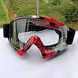 JIAAN Occhiali da Sci Maschera Camo Occhiali da Sci Snowboard Alpinismo Arrampicata Moto Protezione Lente Trasparente Anti-Appannamento Adulto Motocross Bike off-Road Goggles