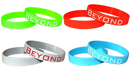 Beyond Dreams 4 Pulseras de Silicona con Grabación BEYOND - Colores Neón -...