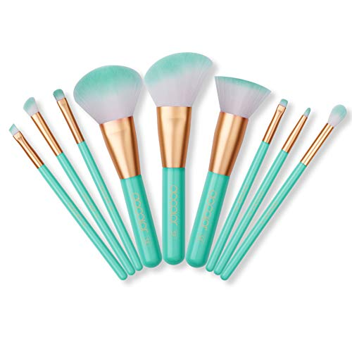 Docolor Makeup Brushes Set 9pcs, Cruelty Free Vegan Premium Synthetic Beauty Make Up Brush