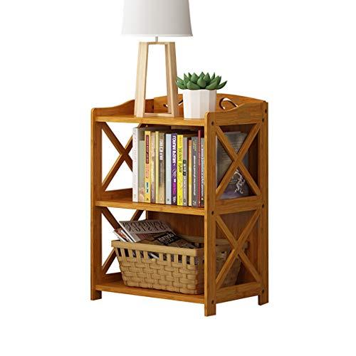 Eenvoudige moderne student kindercombinatie kleine boekenkast eenvoudige rekken vloer massief hout bamboe boekenplank 69 * 29 * 60cm