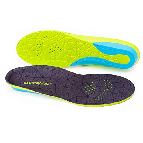 Superfeet FLEXmax, Comfort Insoles for Roomy Athletic Shoe Maximum Cushion and Support, Unisex, Emerald, Large/E: 10.5-12 Wmns/9.5-11 Mens