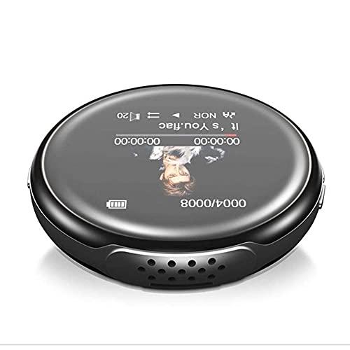UOOD Reproductor MP3 de 8 GB con Bluetooth 4.0, reproductor de música de pantalla curvada con altavoz HiFi sin pérdida de sonido con radio FM, grabadora de voz
