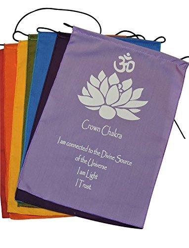 Hände von Tibet Sieben Chakra Gebet Flaggen Banner zum Aufhängen, S