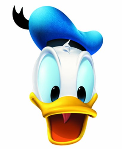 Star Cutouts bedrukt gezichtsmasker van Donald Duck
