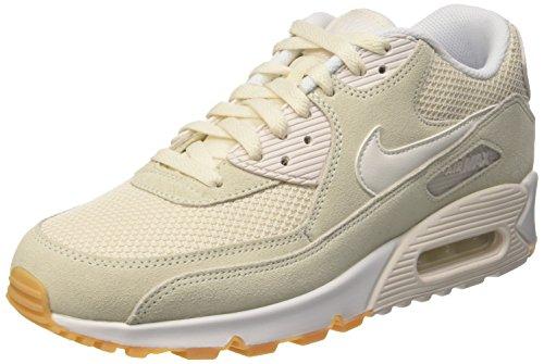 Nike Air Max 90 537384, Herren Sneakers Training, Weiß  (Phantom/Phantom-White-Gum Yellow), 46 EU