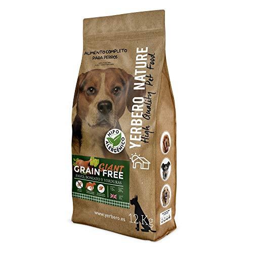 YERBERO Nature Grain Free Giant Comida para Perros Grandes SIN Cereales 12kg