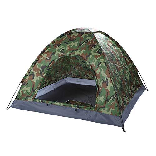 Tienda de campaña de 3 a 4 personas, tienda de campaña familiar domo, impermeable, ventilada, fácil de configurar para senderismo, camping, caza, pesca, al aire libre, azul