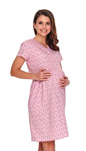 dn-nightwear - Camisón de lactancia/maternidad, para mujer, 100% algodón Papaya 20.1 XL