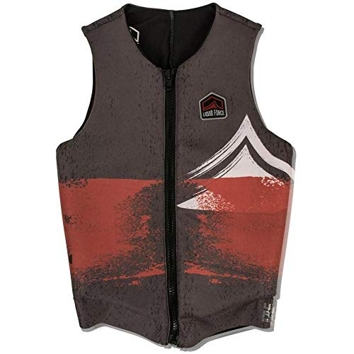 Liquid Force Enigma Comp Wakeboard Weste 2019, Herren, grau, Small