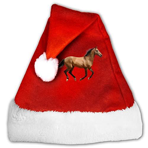 CZLXD Personalisierte Weihnachtsmütze Pferd, Polyester, rot, M