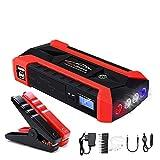 LYzpf Auto Starthilfe Powerbank 1000A (bis zu 6.0L Benzin 5.0L Dieselmotor) Booster Ladegerät Batterieleistung Bank Tragbare Starthilfegerät für 12V Fahrzeuge Autobatterie Anlasser,red