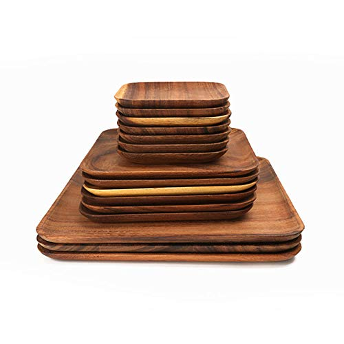 WFSDKN bord, hout, vierkant, fruit, onderzetter, theetablet, dessert, brood, pizza, rechthoekig, plaat van massief hout