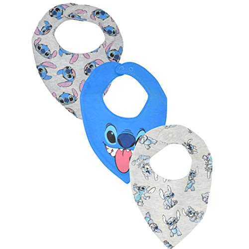 Disney Lilo and Stitch Baby Boys Newborn Infant 3 Pack Bibs