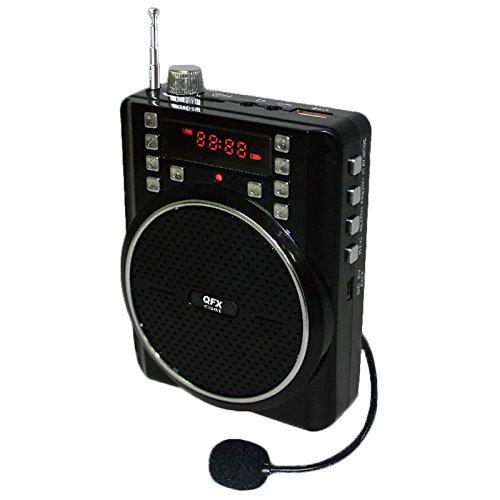 QFX CS-84 Portable PA System w/ USB/Micro-SD, FM Radio, Recording (BLACK)