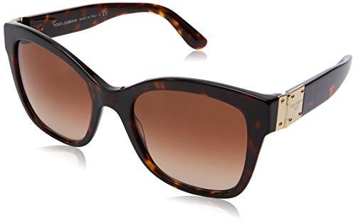 Dolce & Gabbana 0Dg4309, Gafas de Sol para Mujer, Marrón (Havana), 53