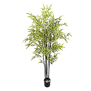 DONGTAISHANGCHENG Artificial Bamboo Plant for Home Garden Office Wedding Decorations, 47inch Tall,Use Real Bamboo Poles, Very Close to Natural Faux Trees