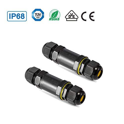 YouFia® Verbindungsmuffe TÜV geprüfte 5 polig Kabelverbinder IP68 wasserdichte Verbindungsbox erdkabel abzweigdose kabel muffe für 4-14 mm (2 Stück)