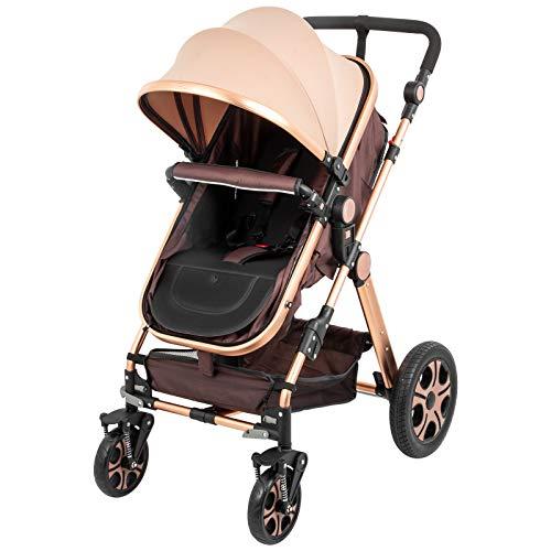 VEVOR Baby Stroller 2 in 1 Stroller Bassinet Stroller Foldable Anti-Shock Newborn Stroller Baby Carriage Stroller Luxury Baby Trend Stroller Stroller for Baby Pram Stroller