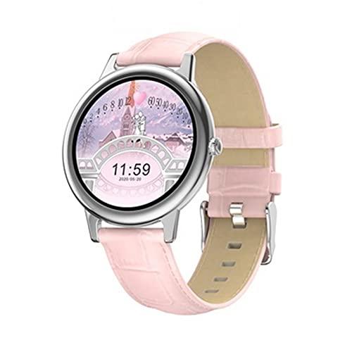 ZFF Reloj Inteligente - Pantalla de Color Pulsera Inteligente Femenina Multifuncional Impermeable Reloj Deportivo Presión Arterial Tasa del corazón Monitoreo del sueño Pulsera Joyería Mujer