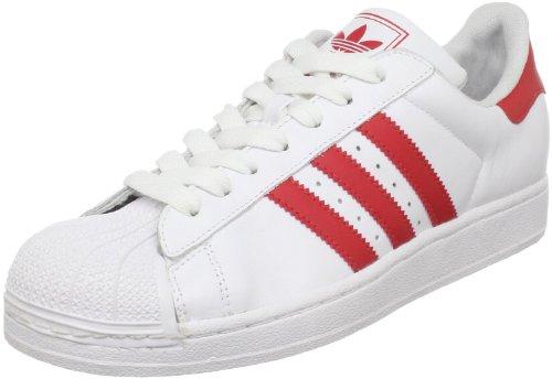 adidas Originals Men's Superstar ll Sneaker,White/Light Scarlet,9.5 D US