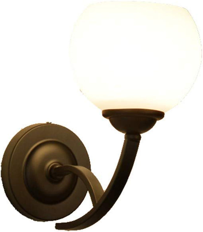 ZEWORLD Moderne Kreative Einfache Geführte Nachtschlafzimmercafébarflurflurhallehalle Schwarze Einzelne Glaswandlampe Mit Birne 5Wled